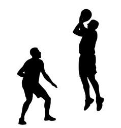 basketball game vector image vector image
