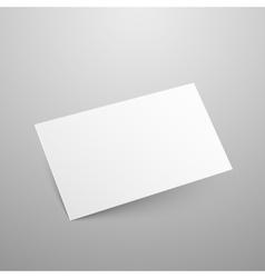 Business card mockup vector image