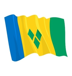 flag of saint vincent and grenadi vector image vector image