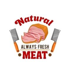 Fresh meat Butcher shop restaurant emblem vector image vector image