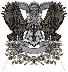 heraldry vector image