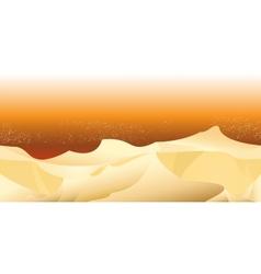 sand desert landscape seamless horizontal pattern vector image vector image