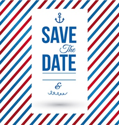 Save the date for personal holiday vector image vector image