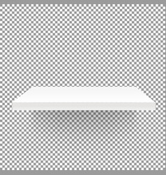 white empty shelf on transparent background mockup vector image vector image