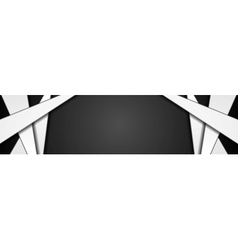 Abstract black white corporate banner design vector