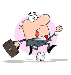 Businessman Running With A Briefcase vector image vector image
