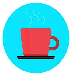 Cup of coffee tea icon vector image vector image