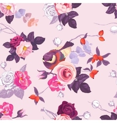 Floral seamless pattern with with monochrome and vector image