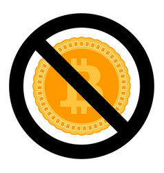 forbidden of crypto currency symbol vector image vector image