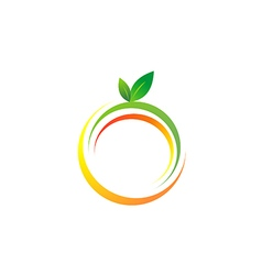 fresh fruit symbol abstract color logo vector image vector image
