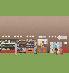 people making purchases flat vector image vector image