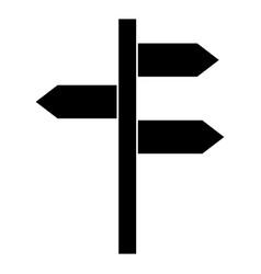 wooden arrows guide label vector image vector image