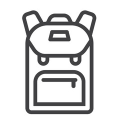backpack line icon education and school vector image vector image