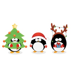 Christmas Penguin Set vector image vector image
