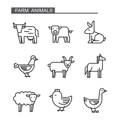 flat farm animal vector image vector image