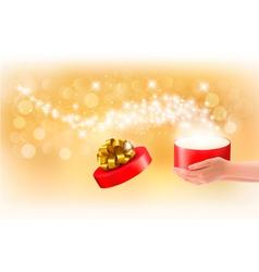 Magic gift box concept vector
