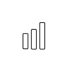 modern bar chart line icon premium pictogram vector image