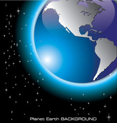 planet earth background vector image