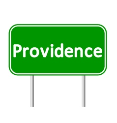 Providence green road sign vector