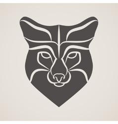 Symbol head of the old fox vector image vector image