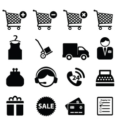 buy and sell icons vector image vector image
