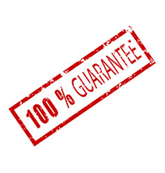 stamp rubber texture 100 percent guarantee vector image