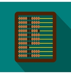 Abacus icon in flat style vector