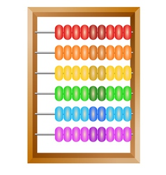 Accounting a rainbow abacus vector