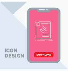 ad advertisement leaflet magazine page line icon vector image