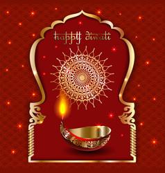 banner india diwali deepavali festival vector image