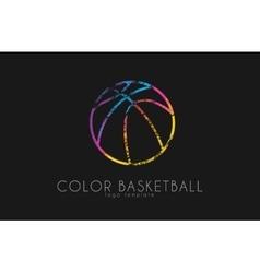 basketball ball logo sport ball logo vector image