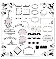 Big set of design elements vector