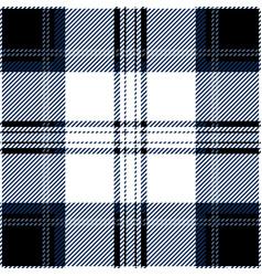 black and blue tartan plaid seamless pattern vector image