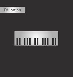 black and white style icon piano keys vector image