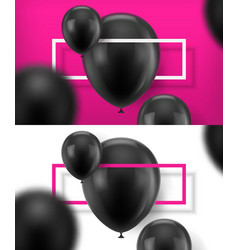 Black baloons vector