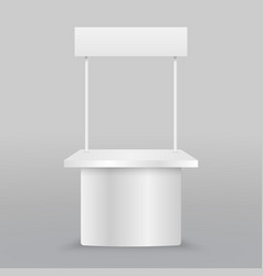 blank promotion counter vector image