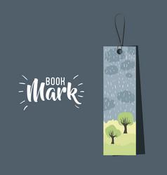 Bookmark label tag design vector