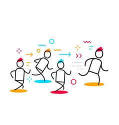 business of running people forward leadership vector image