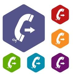 Call rhombus icons vector image