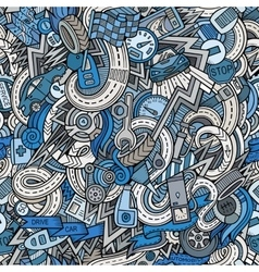 Cartoon hand-drawn sketchy doodles on subject vector