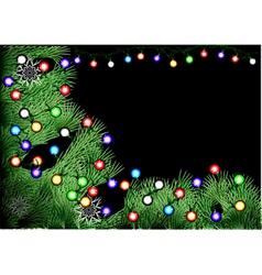 christmas tree with christmas light vector image