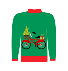 christmas ugly sweater vector image