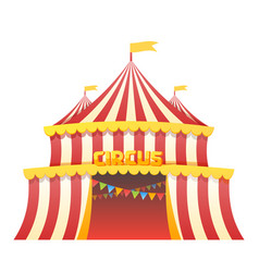 Circus tent fun park in white background vector