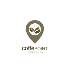 coffee point logo vector image