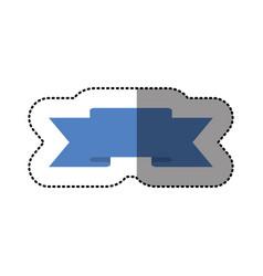 Color symbol ribbon icon vector