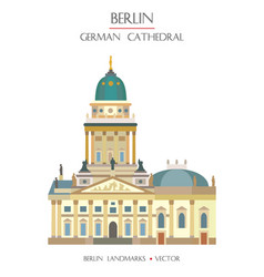 colorful german cathedral vector image