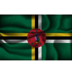 crumpled flag dominica on a light background vector image