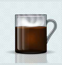 cup hot coffee on a transparent background vector image