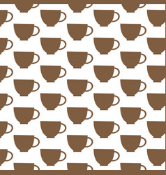 cup pattern background vector image