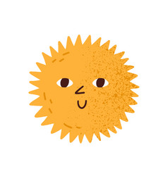 cute happy smiling sun with eyes vector image